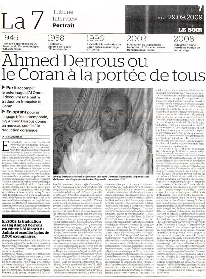 Ahmed Derrous ou le Coran à la portée de tous
